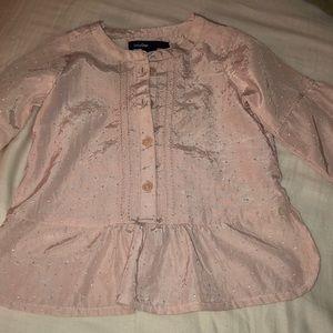 Dusty rose Gap dressy shirt.